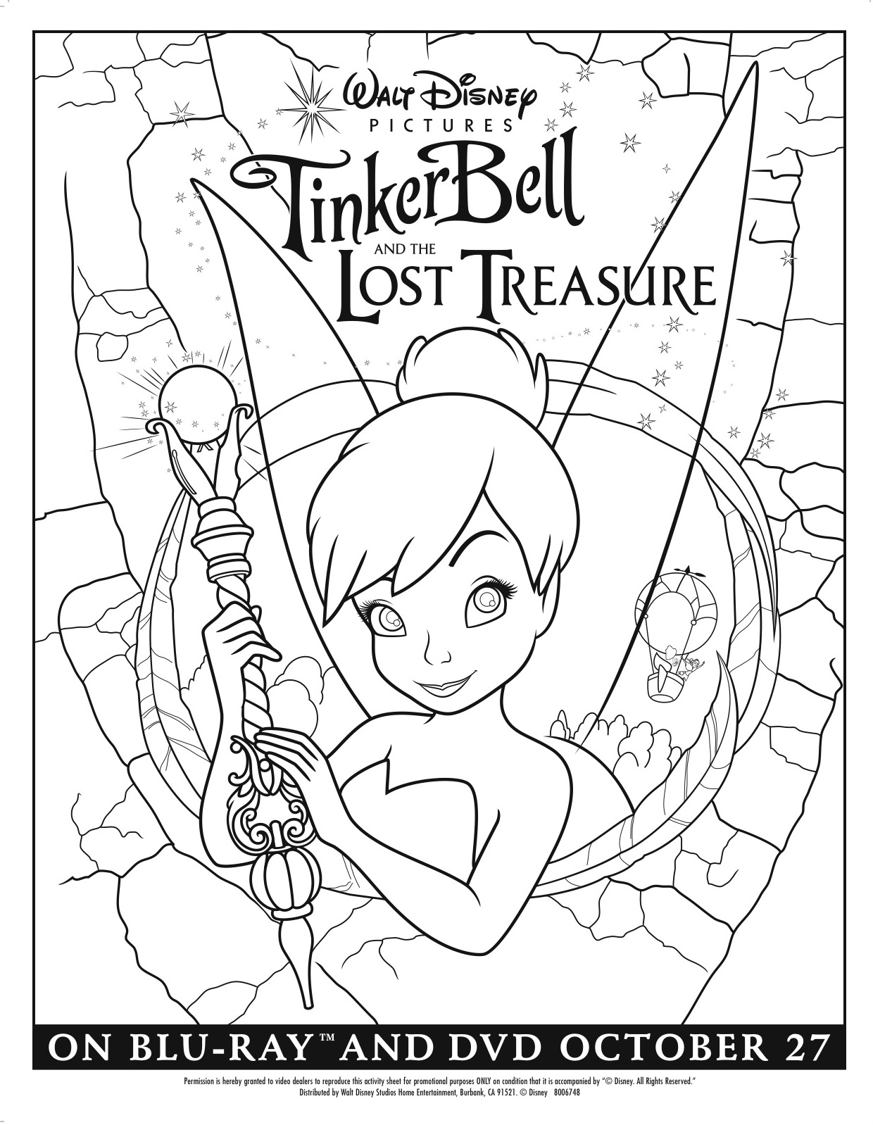 coloring book pages of tinkerbell | Tinker Bell and the Lost Treasure coloring page - No Time ...