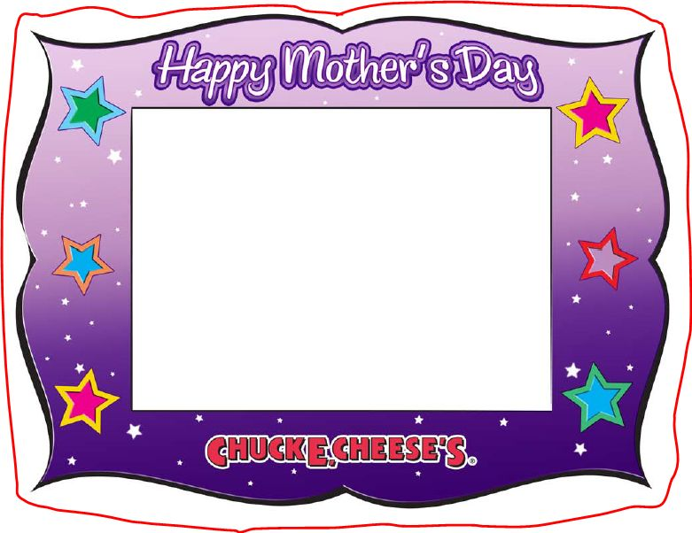 Mothers Day Printable Picture Frame From Chuck E Cheese - No Time Mommy