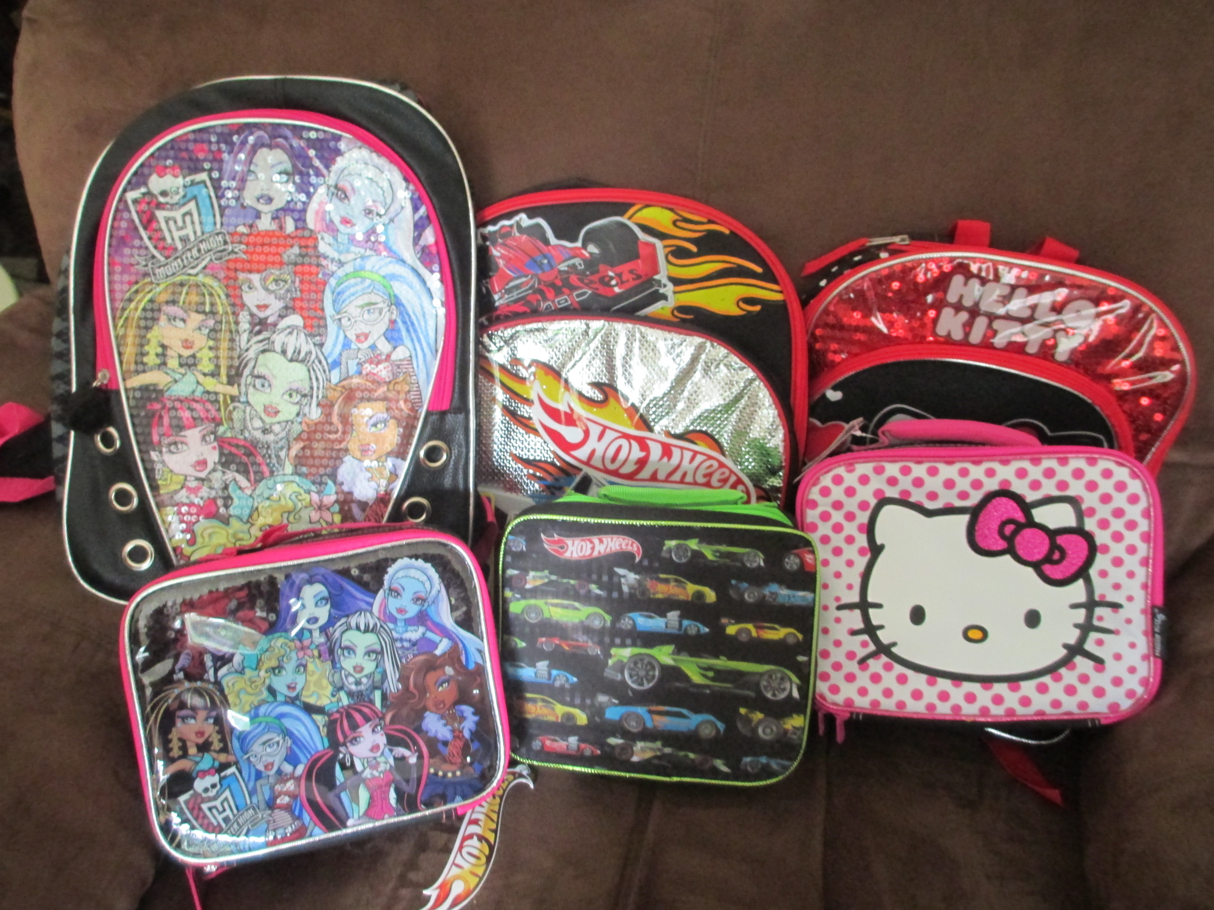 The Backpacks All Have Enough Pockets For There School Gear You Checked Out Toys R Us
