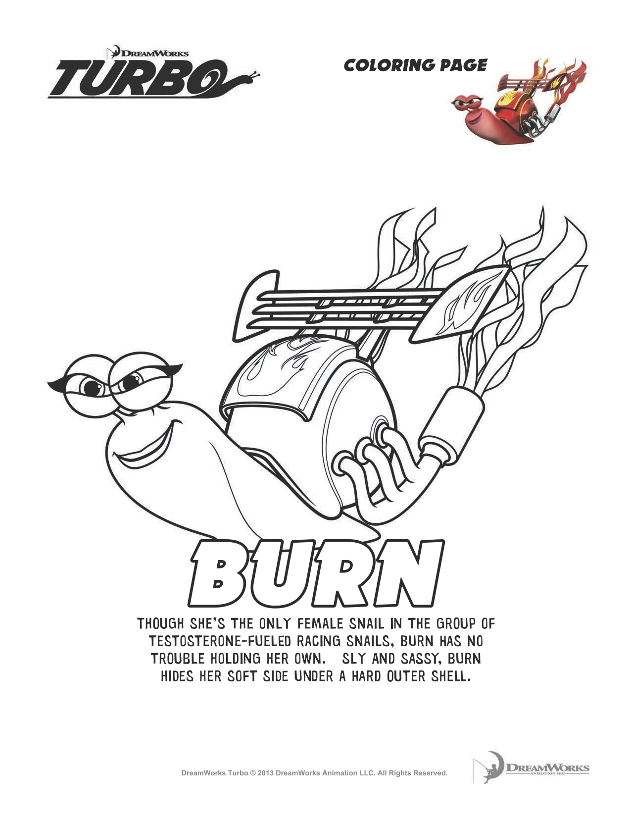 burned turbo snails coloring pages - photo#9