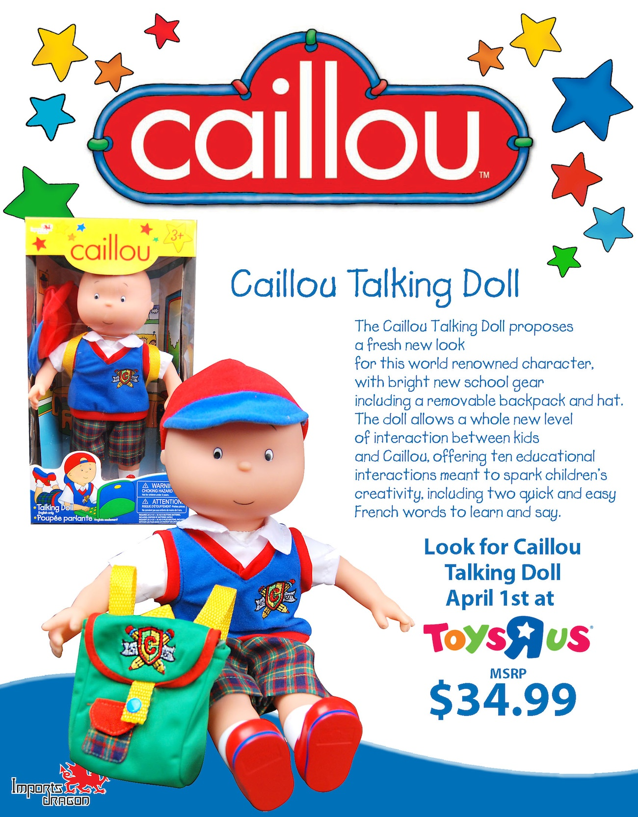 CaillouTalkingDoll Pager